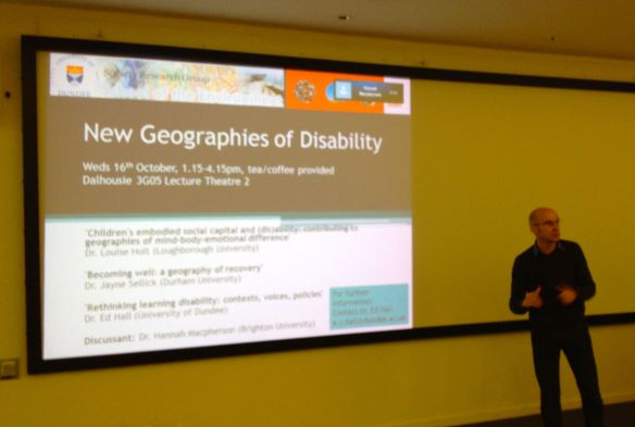 New Geographies of Disability