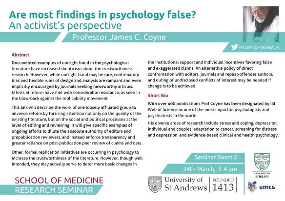 Prof Coyne - St Andrews Seminar 24-03-15